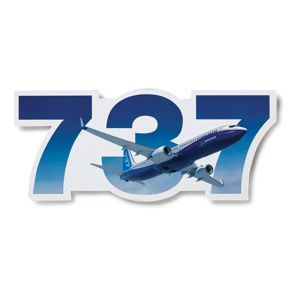 DIE-CUT BOEING PLANE STICKER