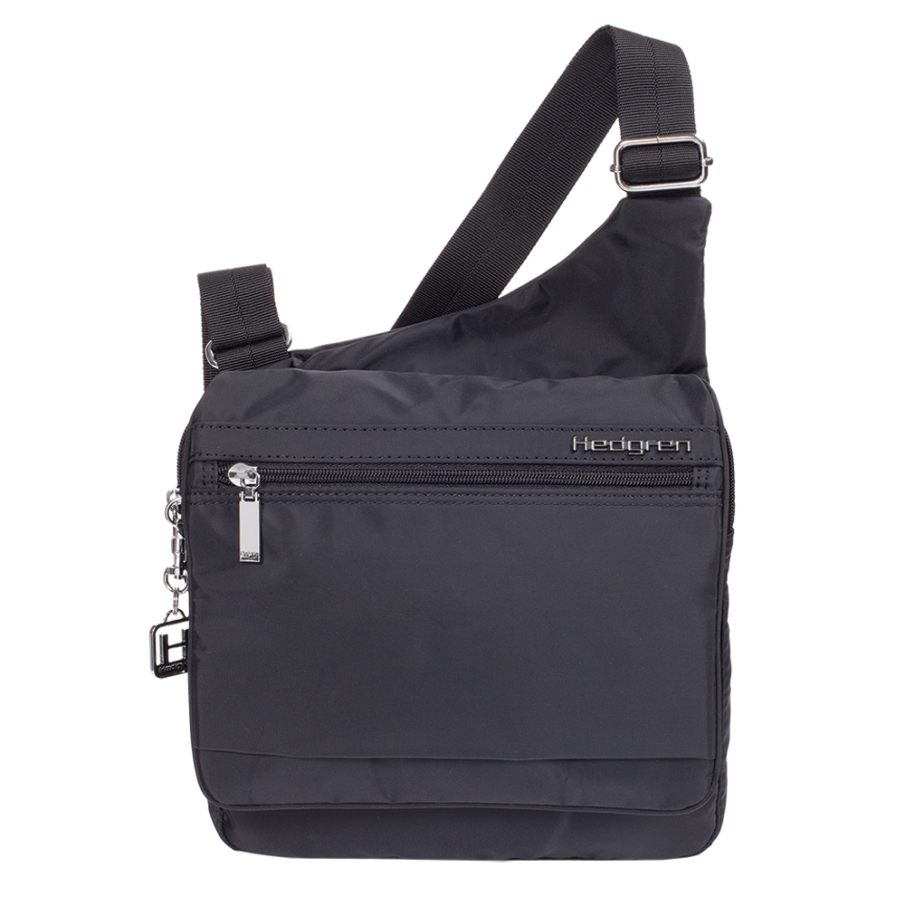 SHOULDER CROSS-BODY BAG, PACKS FLAT, WATER REPELLENT, POLYESTER