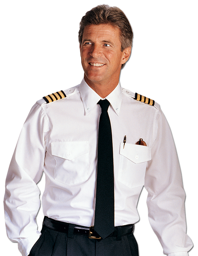 CREWGEAR PILOT SHIRT BUTTONDOWN COLLAR TRIM FIT, WHITE