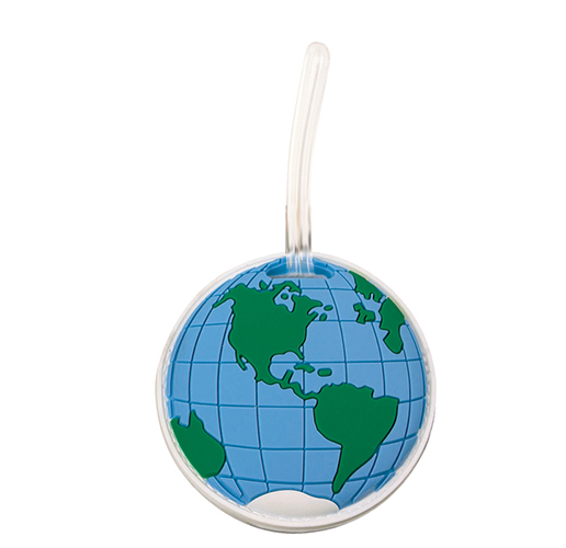 GLOBE LUGGAGE TAG