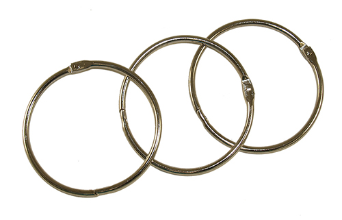 MANUAL COVER RINGS - SET OF 3 (WITHOUT BINDER) 3
