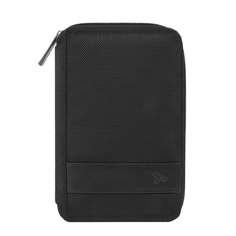 RFID BLOCKING MULTI-PASSPORT HOLDER BLACK