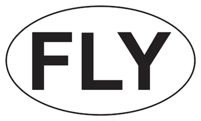 FLY EURO STYLE FLIGHT BAG OR BUMPER STICKER