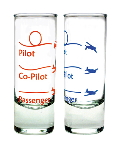 AVIATION SHOT GLASS - 3 LEVELS