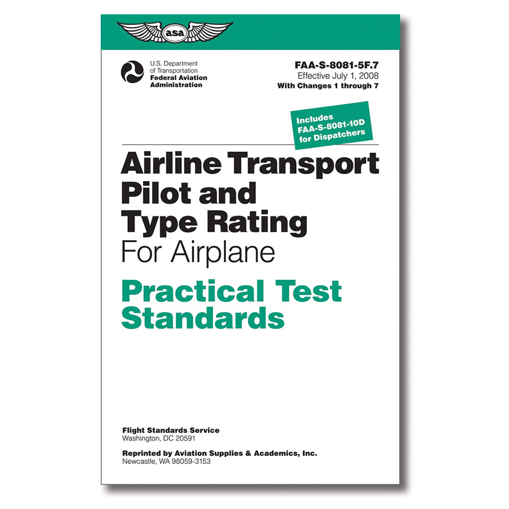 AIRLINE TRANSPORT PILOT PRACTICAL TEST STANDARDS BOOK