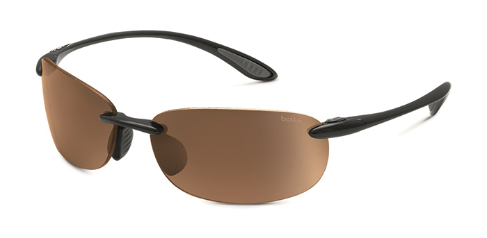 KICKBACK BOLLE SUNGLASSES SHINY BLACK MODULATORV3 GOLF OLEO AF