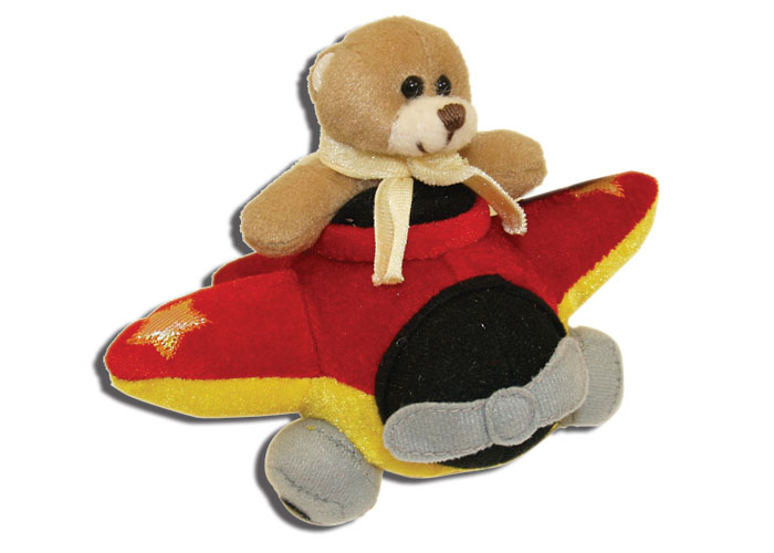 PLUSH STUFFED BEAR IN AIRPLANE