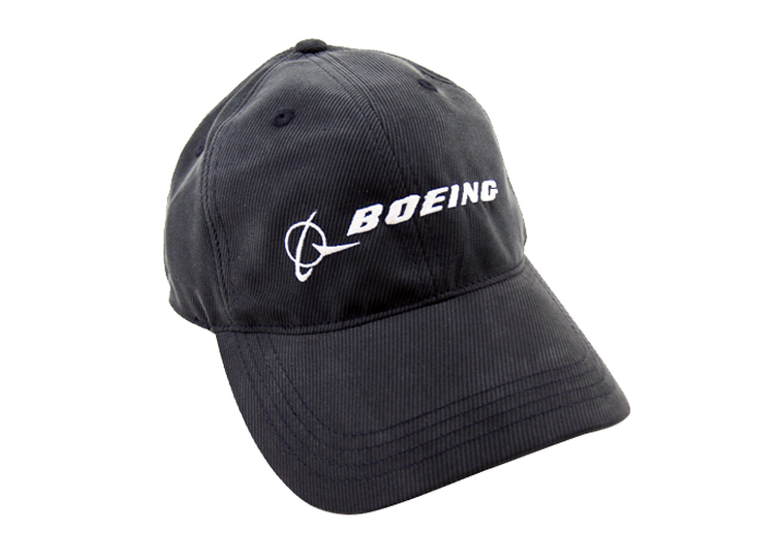 BOEING CAP BLACK WITH WHITE BOEING LOGO + SIGNATURE