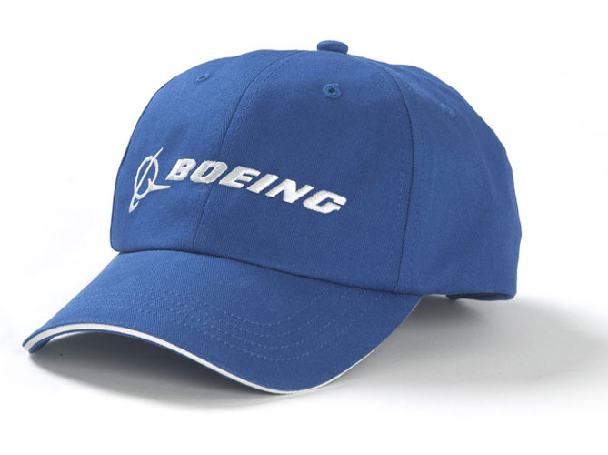 BOEING CAP ROYAL WITH BOEING LOGO AND SIGNATURE