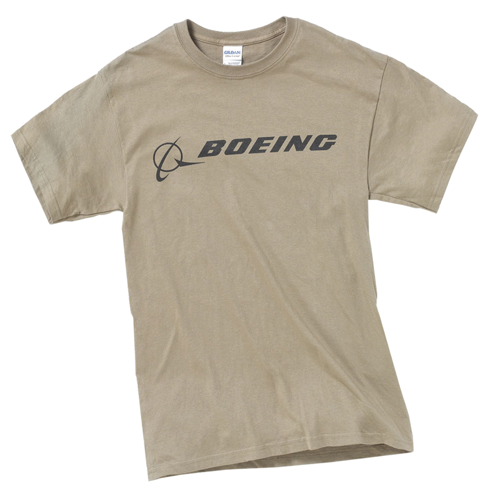 BOEING MENS 100% PRESHRUNK COTTON SIGNATURE T-SHIRT