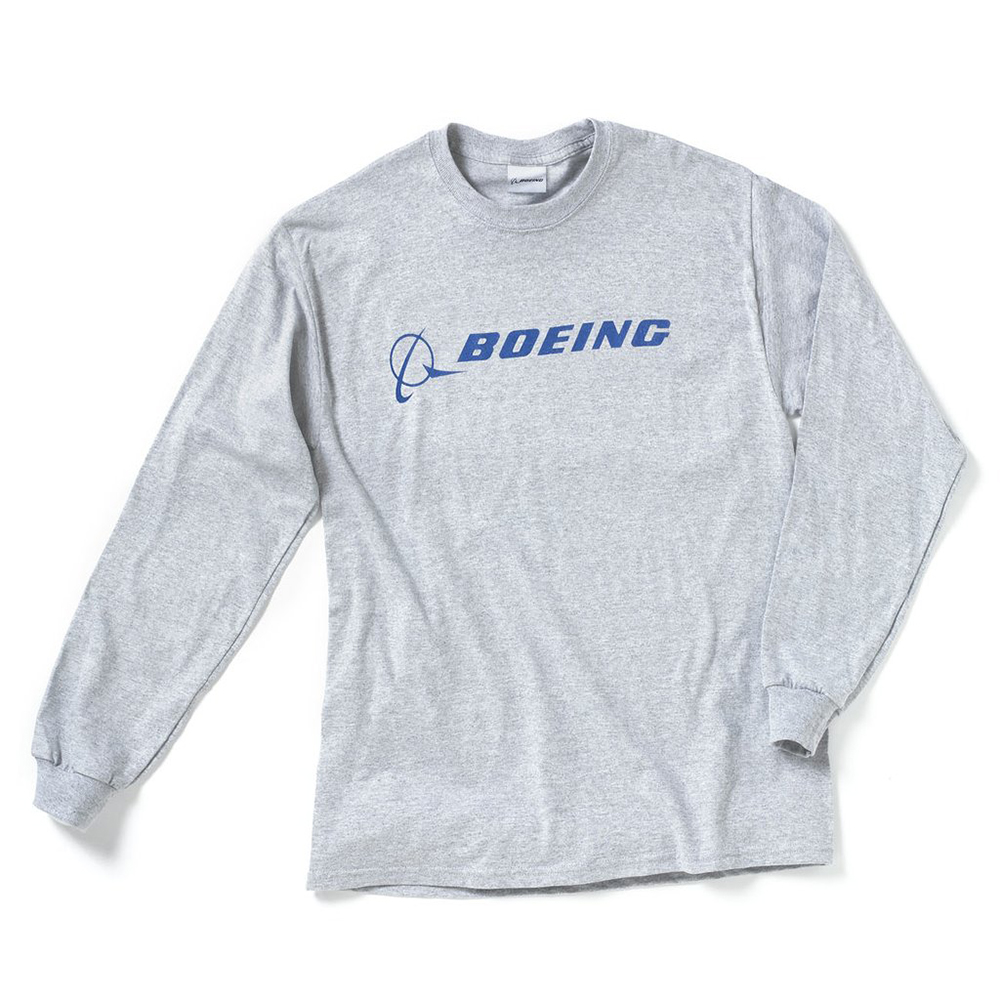 BOEING SIGNATURE T-SHIRT LONG SLEEVE, SPORT GRAY
