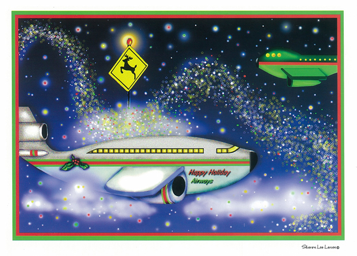AVIATION THEME CHRISTMAS GREETING CARDS (18/BOX)