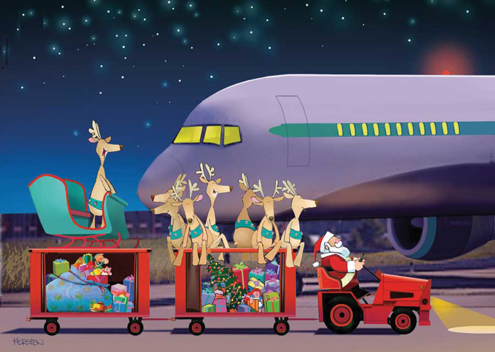 AVIATION THEME CHRISTMAS GREETING CARDS