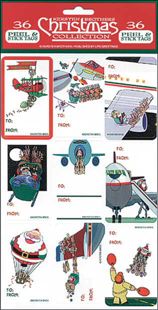 AVIATION THEME CHRISTMAS GIFT TAGS