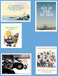 AVIATION THEME BIRTHDAY GREETING CARDS VARIETY (5/PACK)