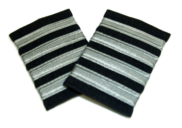 EPAULETS SILVER ON NAVY