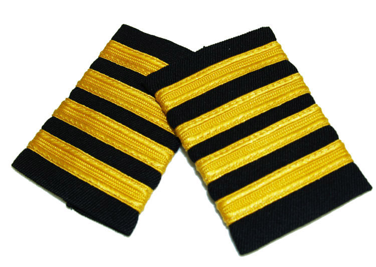 EPAULET GOLD ON NAVY STRIPES WITH VELCRO