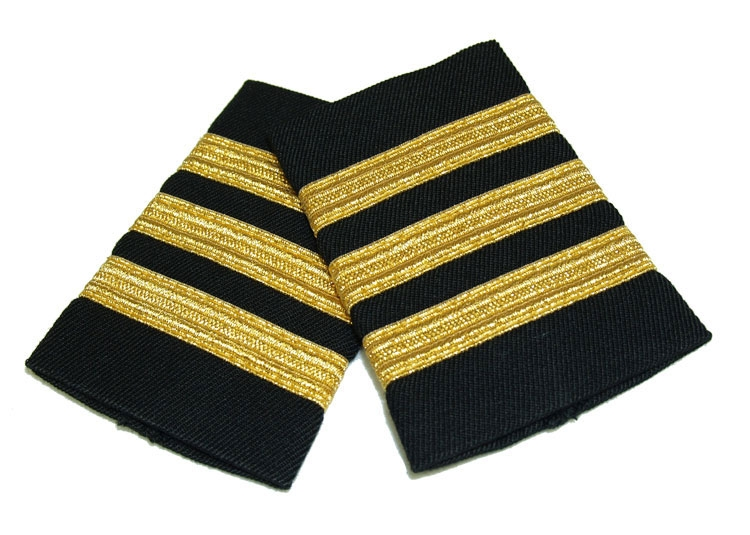 EPAULETS METALLIC GOLD NAVY