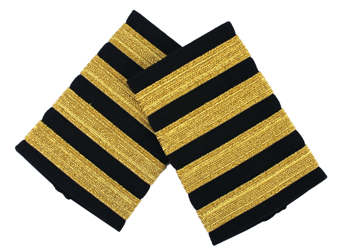 EPAULET METALLIC GOLD BLACK
