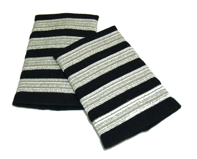 EPAULET METALLIC SILVER BLACK WITH VELCRO