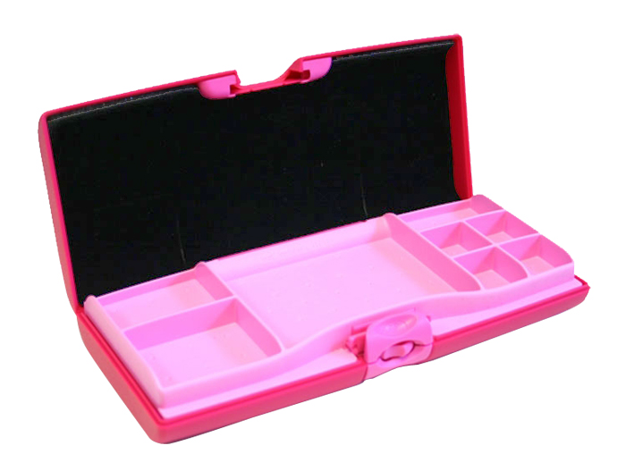 SMART DUAL SIDED JEWELRY TRAVEL CASE HOT PINK
