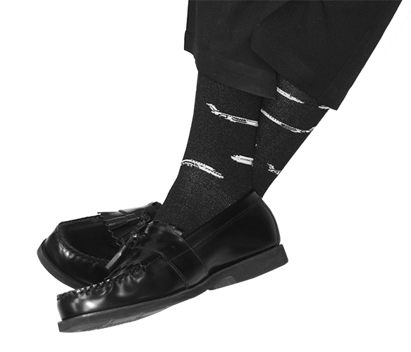 JET SOCKS BLACK FITS SHOE SIZE 10-13 (MEN'S)