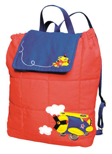 KIDS AVIATION THEME BACKPACK RED/BLUE
