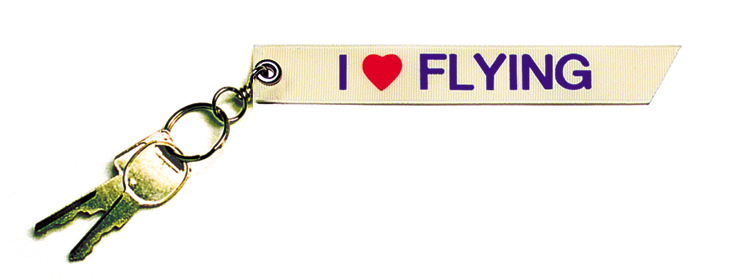 KEY CHAIN - I LOVE FLYING - 6