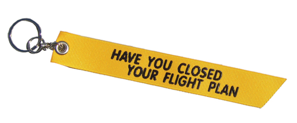 KEY CHAIN- FLIGHT PLAN CLOSED - 6