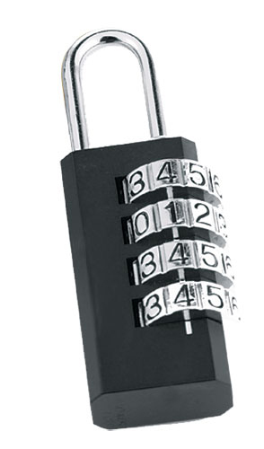 JUMBO LOCK 4 DIGIT BLACK