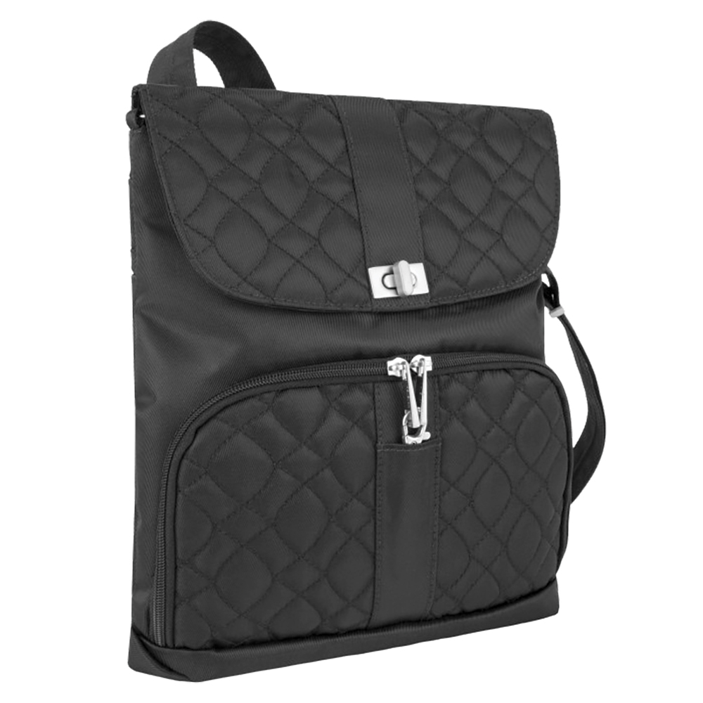 ANTI-THEFT SIGNATURE MESSENGER BAG TRUFFLE BLACK
