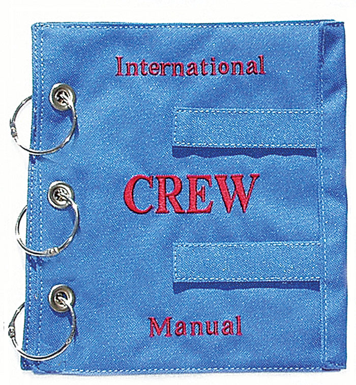 INTERNATIONAL CREW MANUAL COVER BLUE