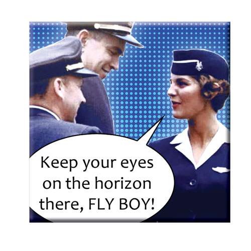 EYES ON HORIZON FLY BOY MAGNET