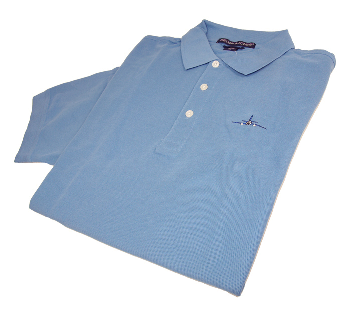 MENS JET POLO SHIRT SLATE BLUE