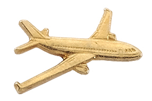AVIATION TAC PIN GOLDTONE - AIRBUS 320