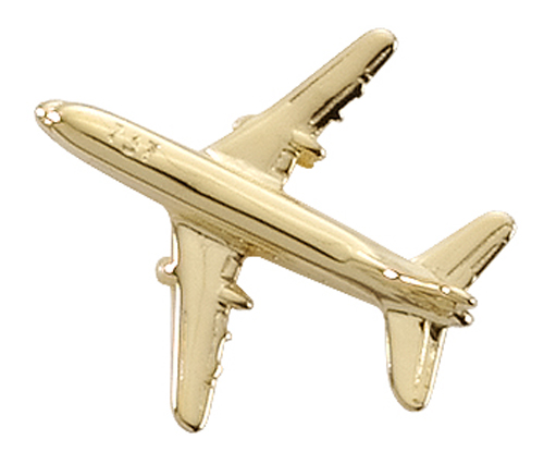 AVIATION TAC PIN GOLDTONE - BOEING 737