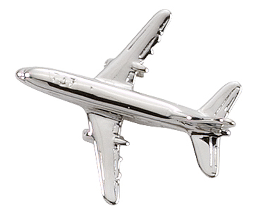AVIATION TAC PIN SILVERTONE - BOEING 737