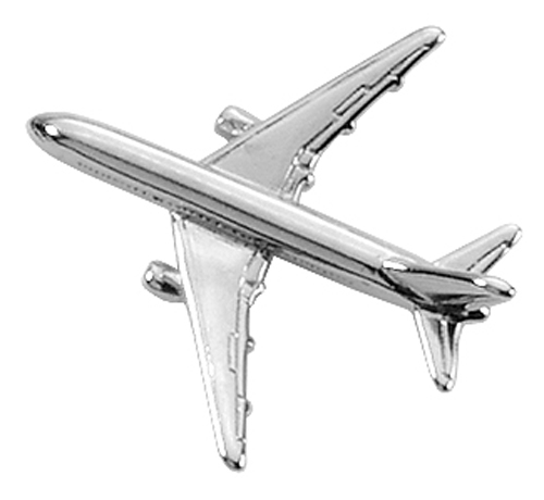 AVIATION TAC PIN SILVERTONE - BOEING 767
