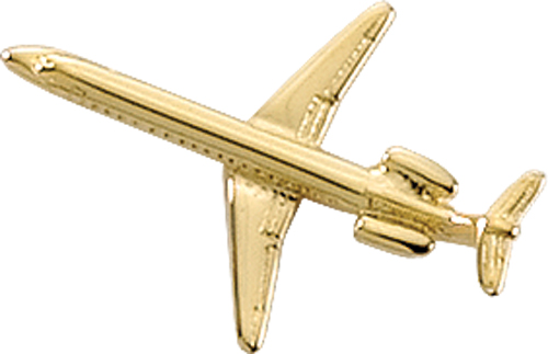 AVIATION TAC PIN GOLDTONE - EMBRAER 145
