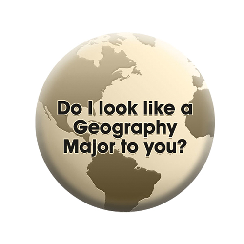 BUTTON PIN/GEOGRAPHY MAJOR
