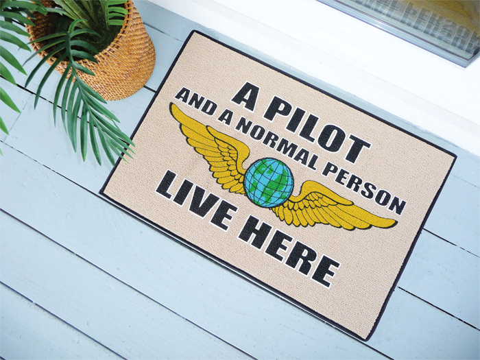PILOT AND NORMAL PERSON DOORMAT