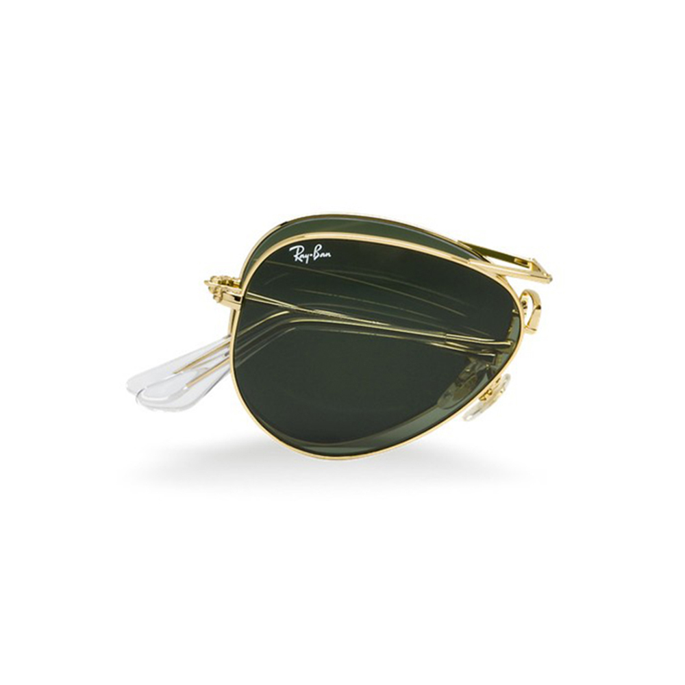 RAYBAN FOLDING AVIATOR POLARIZED GOLD ARISTA FRAME G15 LENS
