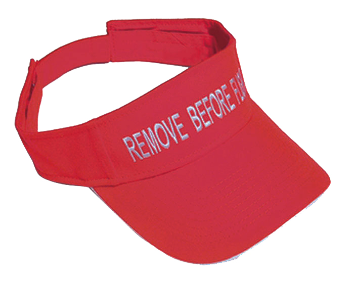 REMOVE BEFORE FLIGHT VISOR