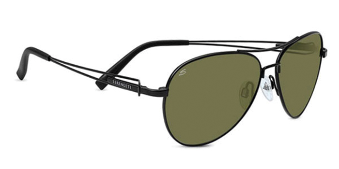 BRANDO SERENGETI SUNGLASSES SATIN BLACK 555NM