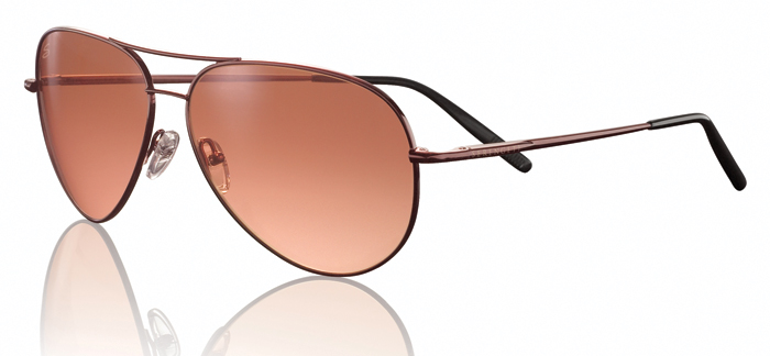 AVIATOR MEDIUM SERENGETI SUNGLASS HENNA ( COPPER) GRADIENT LENS W/ FLEX SPRING HINGES