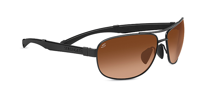 NORCIA SERENGETI SUNGLASSES SATIN BLACK/BLACK DRIVER GRADIENT