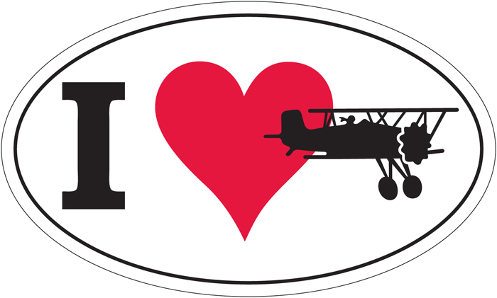 I LOVE FLYING EURO STYLE FLIGHT BAG OR BUMPER STICKER