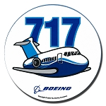 BOEING 717 PUDGY PLANE STICKER - 3