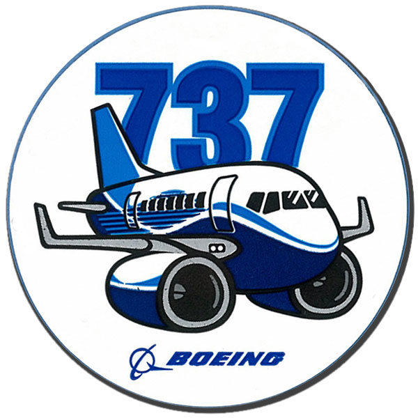 BOEING 737 PUDGY PLANE STICKER - 3