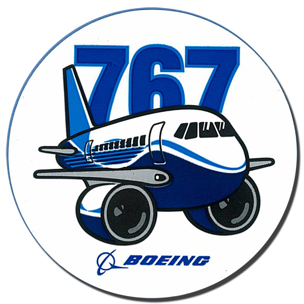 BOEING 767 PUDGY PLANE STICKER - 3
